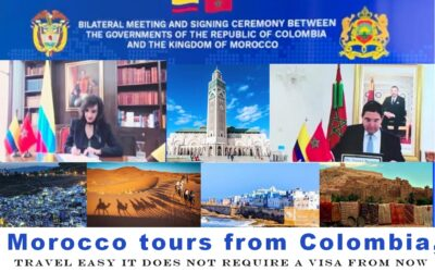 Travel easy from Colombia to Morocco