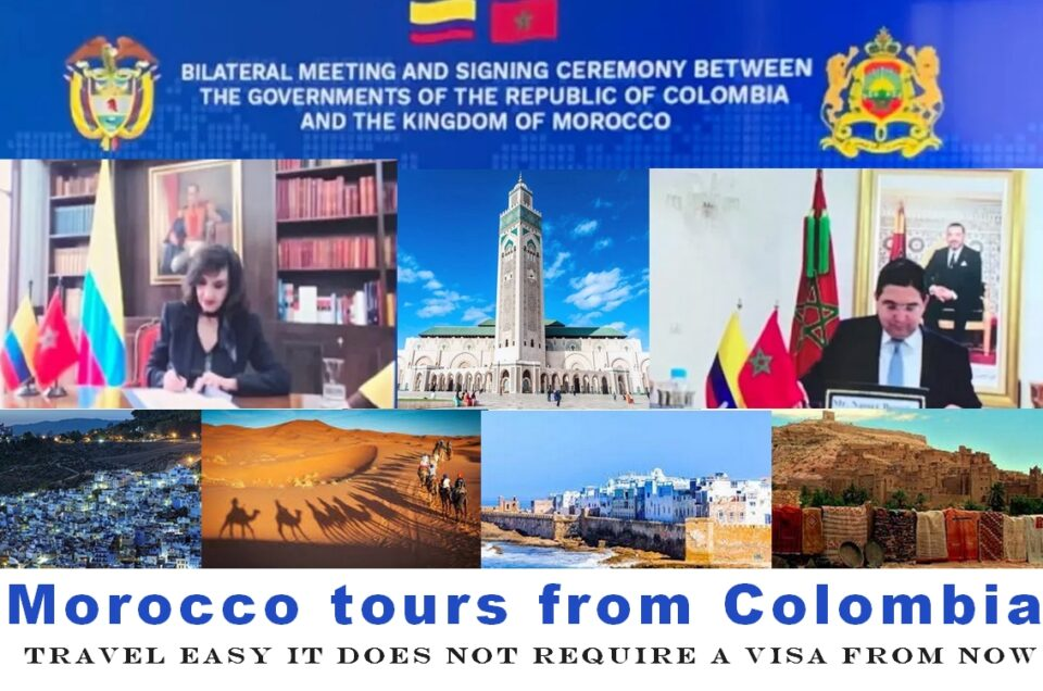 • Am I allowed to travel from Morocco to Colombia? • What is the cheapest way to get from Morocco to Colombia? • How do I get from Morocco to Colombia the fastest? • How long does it take to get from Morocco to Colombia?